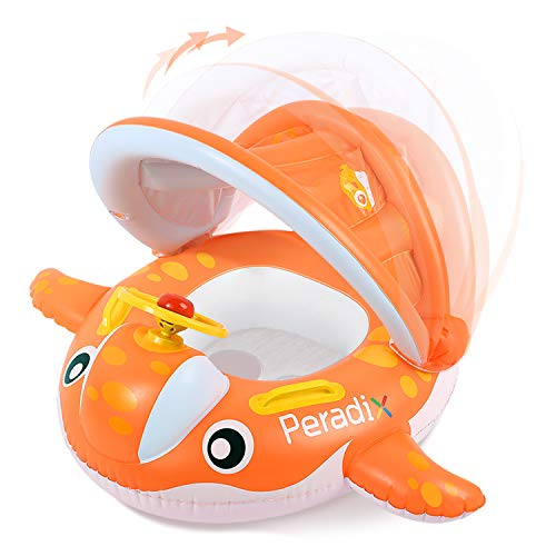 Peradix Baby Schwimmring Aufblasbares Kinderboot...