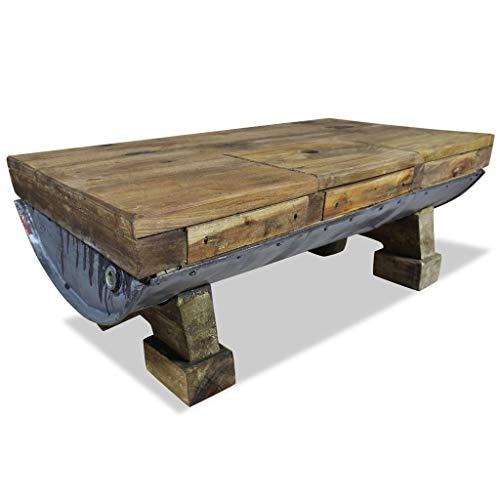 vidaXL Couchtisch Altholz Retro Tisch...