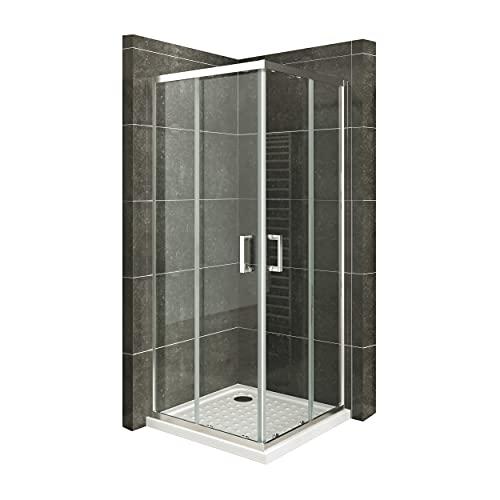 Duschkabine mit Schiebetüren Eckdusche mit...