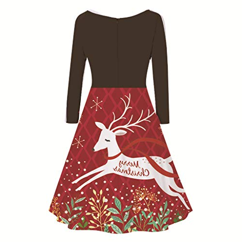 Floweworld Damenkleider Mode V-Ausschnitt mit...