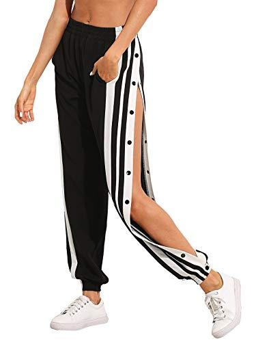 SOLY HUX Damen Hosen Sweatshose Streifen...
