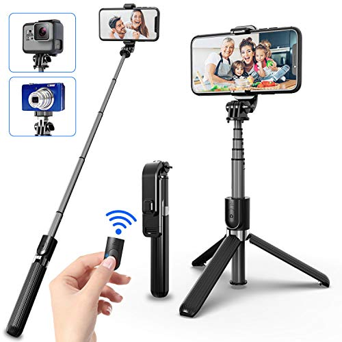 SYOSIN Selfie Stick Stativ, 4 in 1 Erweiterbar...