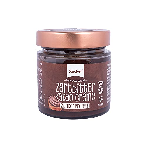 Xucker Zuckerfreie Zartbitter Kakao Creme mit...
