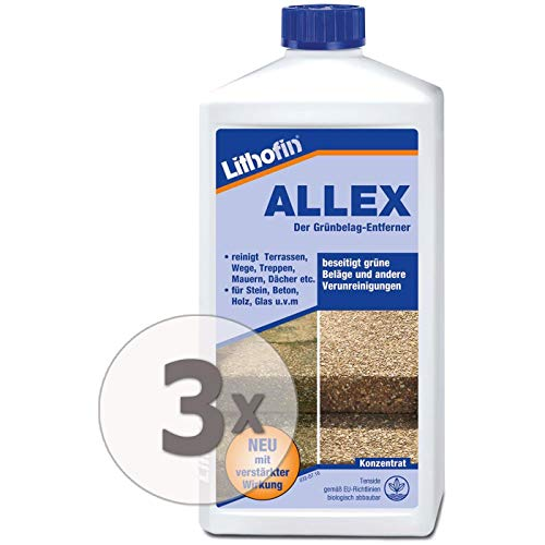 Lithofin ALLEX 3 l - Grünbelag-Entferner Algen-...