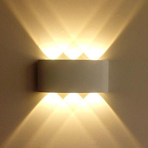 Lightess Wandlampe LED Innen Aussen Wandleuchte...
