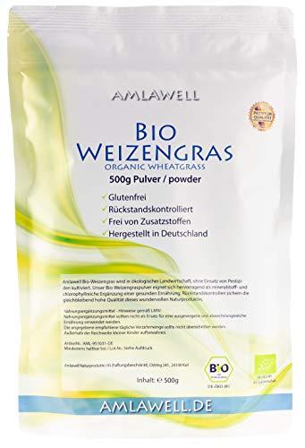 Amlawell Bio-Weizengras-Pulver 500g / Testsieger...