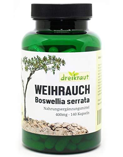 Weihrauch-Kapseln 400mg, Boswellia Serrata, 140...