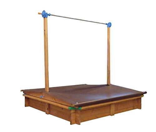 GASPO 310016 - Holz Sandkasten Mickey 140 x 140 cm...