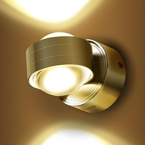 GHB 6W LED Wandleuchte Halb Globe Warmweiß...