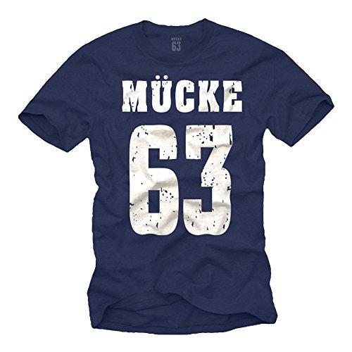 Coole Spencer T-Shirts dunkelblau MÜCKE 63...