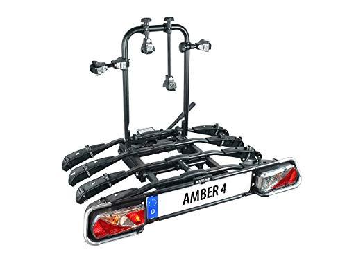 EUFAB 11556 Fahrradträger Amber 4, Black, ca. 102...
