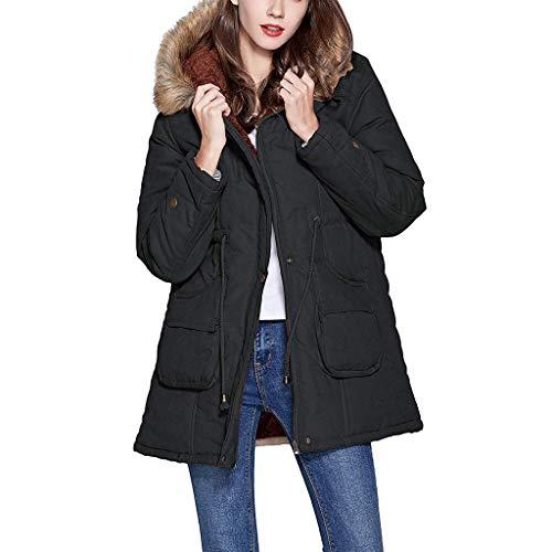 Floweworld Damen Jacken Mode Winter Warm Fleece...