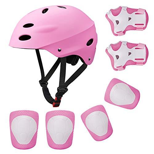 Topfire Kinder Scooter BMX Bike Helm, Hand-Knie,...