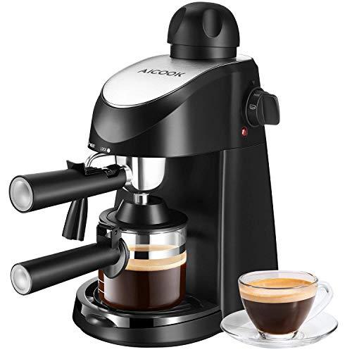 Aicook Kaffeemaschine, espresso (5 bar Dampfdruck,...