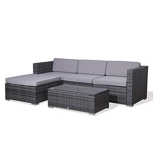 SVITA Poly Rattan Lounge California Gartenset Sofa...