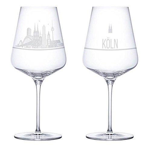I LOVE Köln Weingläser 2er Set | Weinglas mit...