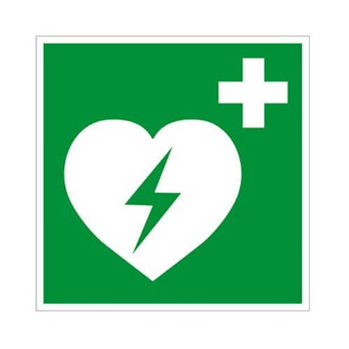 Defibrillator Kunststoff 200 x200mm