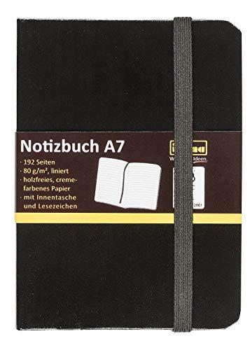 Idena 10033 - Notizbuch FSC-Mix, A7, liniert,...