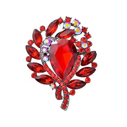 6 Farben Avaible Große Kristallblumen-Broschen...
