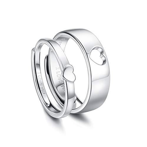 CASSIECA Männer Frauen 925 Sterling Silber Ringe...