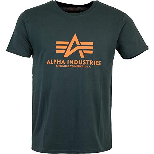 ALPHA INDUSTRIES Basic Logo T-Shirt (XL, Dark...