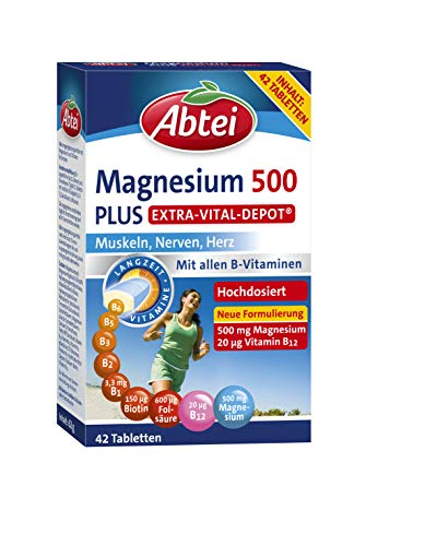 Abtei Magnesium 500 Plus Vital Depot, 42 Tabletten