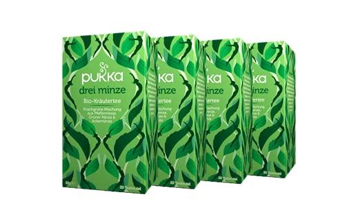 Pukka Bio-Tee Drei Minze 80 Teebeutel, 4er Pack (4...