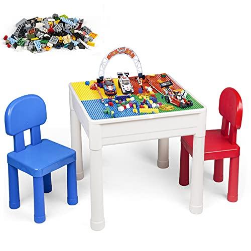 LADUO Kindertisch mit Stühle, 100pcs Mini...