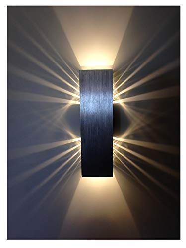 Wandlampe LED dimmbar 6W Wohnzimmer Up and Down...