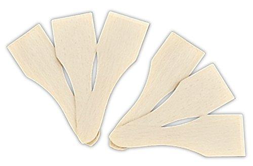 Staedter Raclette-Messer, Beige, 13 cm, 6-teilig