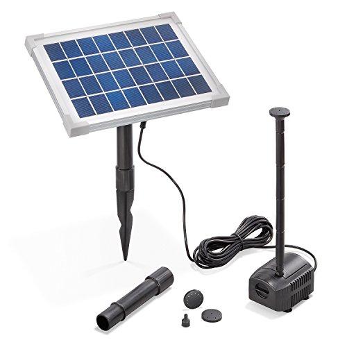 Solar Teichpumpe 5 Watt Solarmodul 250 l/h...