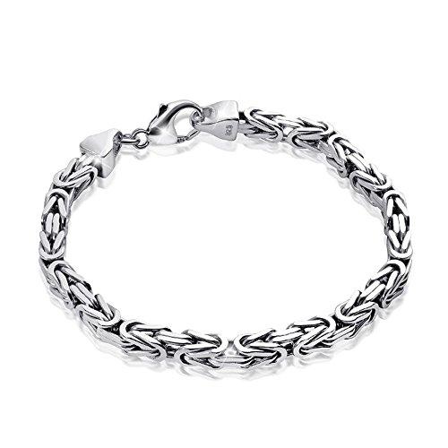 MATERIA Königskette 925 Silber Herren Armband 3mm...