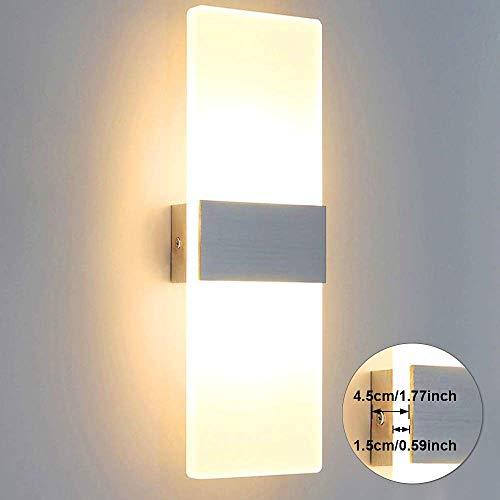 Lightess Wandleuchte LED Innen Modern Weiss...