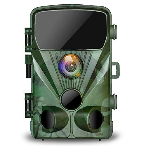 TOGUARD Wildkamera 20MP 1080P Jagdkamera mit 20M...