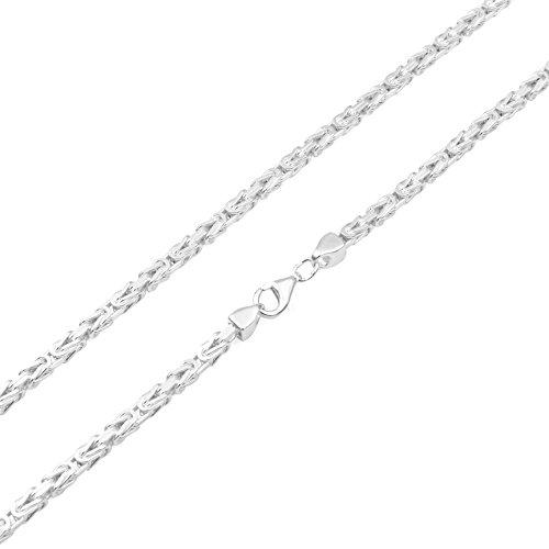 Königskette 3mm 925 Silber massiv - Länge...