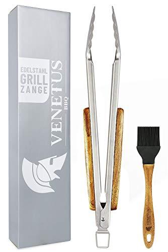 VENETUS-BBQ Grillzange und Grillpinsel aus edlem...