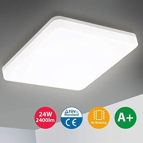 Oeegoo LED Deckenleuchte 24W, 2400LM Flimmerfreie...