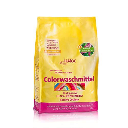 HAKA Colorwaschmittel I 3kg Pulver I 77 Wäschen...