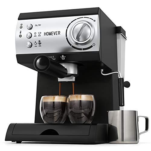 Espresso Siebträgermaschine,Homever 15 Bar...