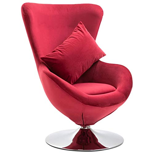 vidaXL Drehstuhl in Ei-Form mit Kissen Sessel...