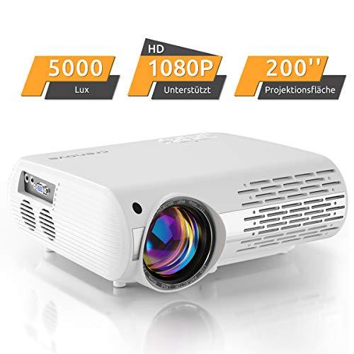 Beamer,5000 Lux Video Projektor (550 ANSI) Crenova...