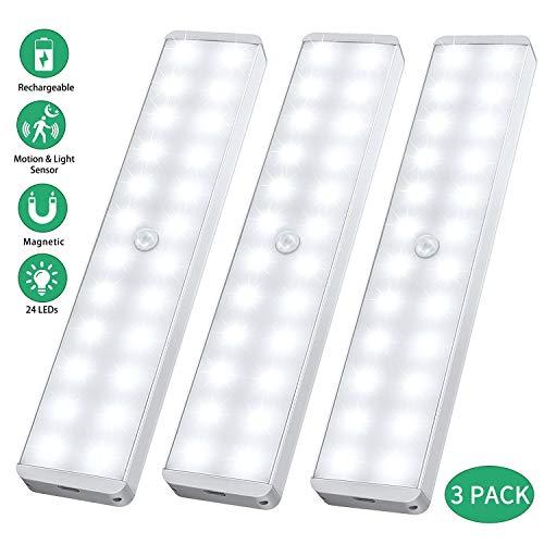 LED Sensor Licht 24 LED, Wiederaufladbar...