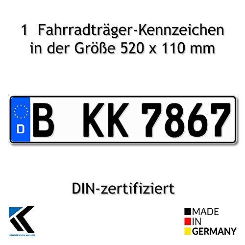 Antmas 1 Fahrradträger Kennzeichen...