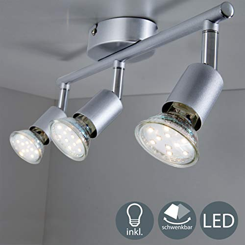 B.K.Licht LED Deckenleuchte Schwenkbar inkl. 3 x...