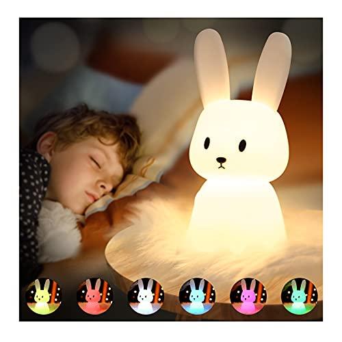 SOLIDEE Bunny Silikon Nachtlicht Kinder...