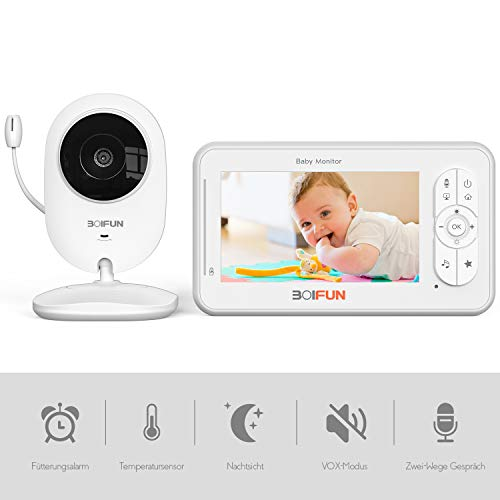 Babyphone mit Kamera, Dual Audio 4,3 Zoll Digital...