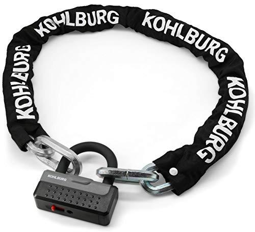 KOHLBURG massives Kettenschloss 115cm lang & 12mm...