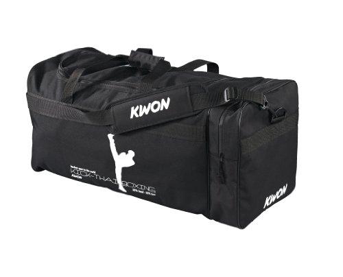 Kwon Trainingstasche Kick Thaiboxing, schwarz, 48...