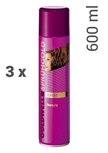 3er Set Goldwell Sprühgold Classic Haarspray 600...