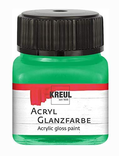 Kreul 79208 Acryl Glanzfarbe, 20 ml Glas in grün,...